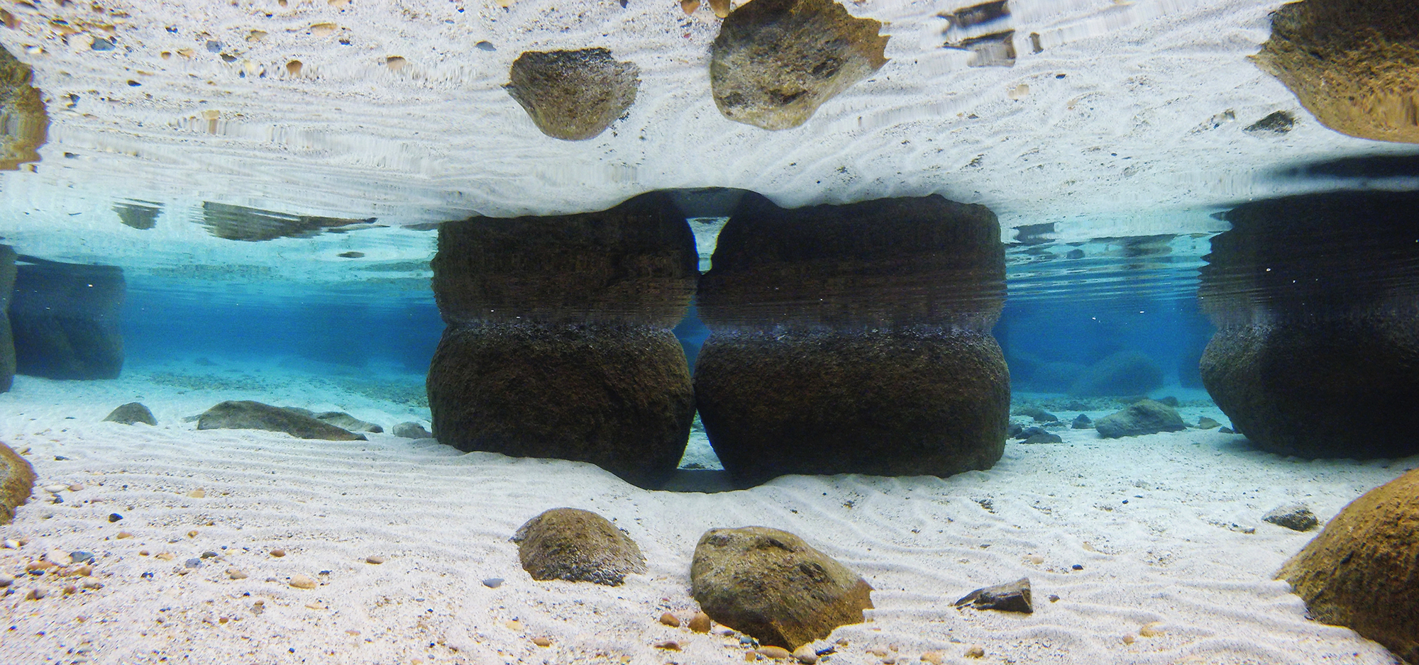 Under water panorama secret cove