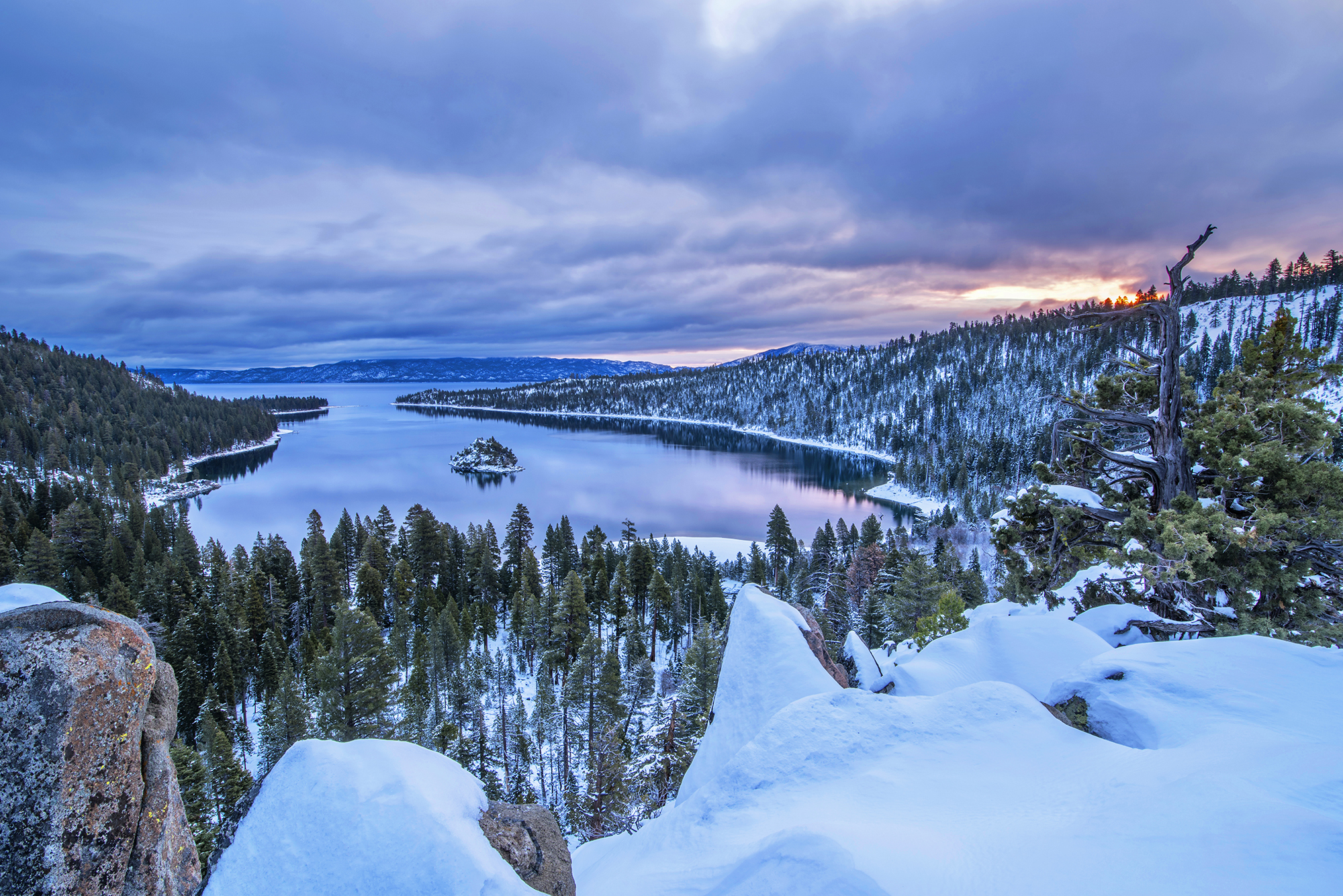 Emerald bay winter sunrise