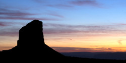 monument valley silhouette 30x60 for print