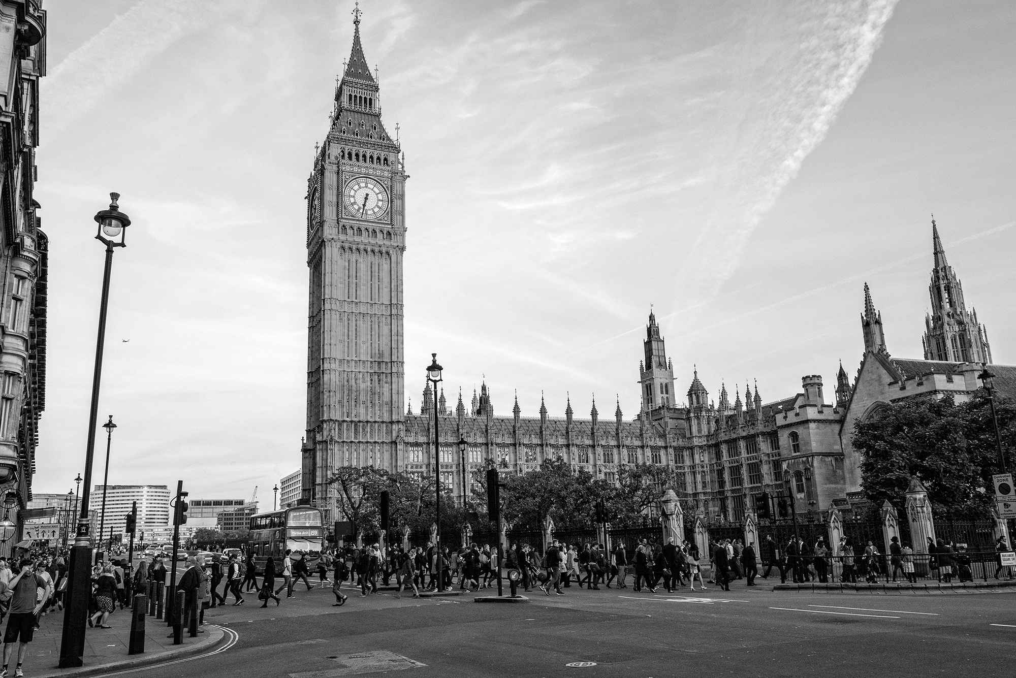 big ben black & White