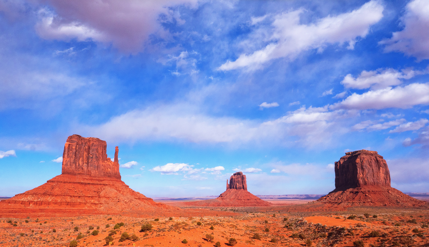 monument valley clouds for print