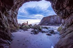 bandon beach cave