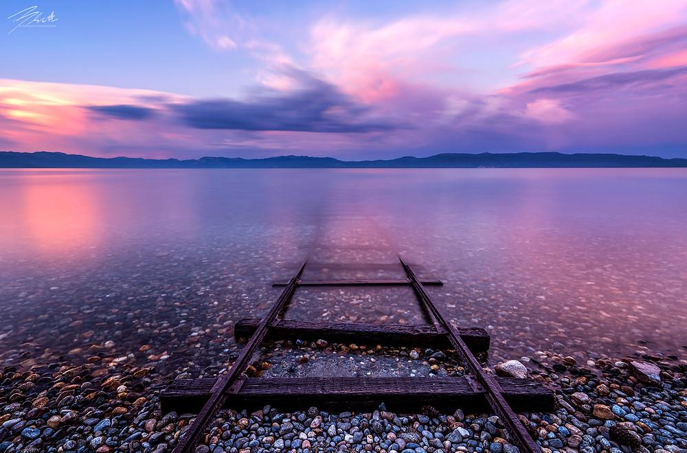 Tracks To Tahoe - Lake Tahoe Sunset Picture by Brad Scott