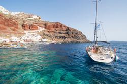 Amoundi bay sailboat
