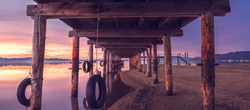 under the pier at timber cove