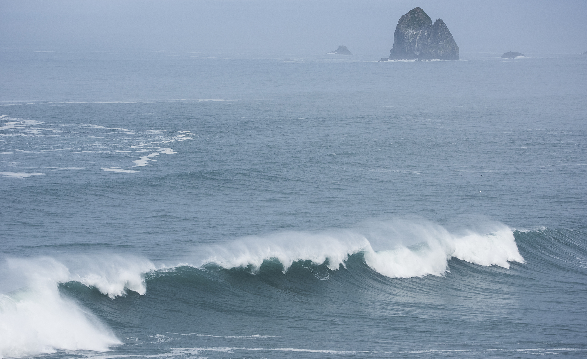 wave on california coast