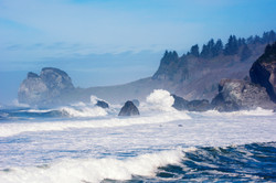 waves on the california coast by orick