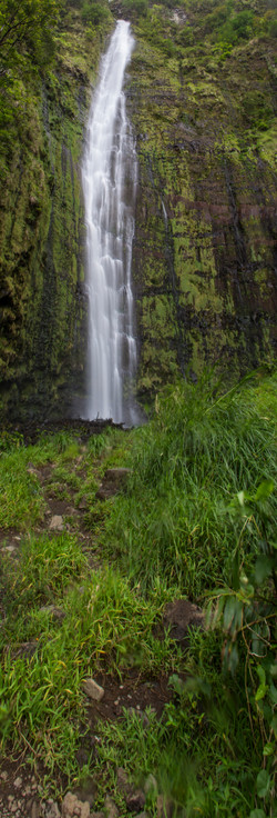waimoku falls verticle pano