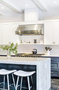 Kitchen island and range color adjustmen