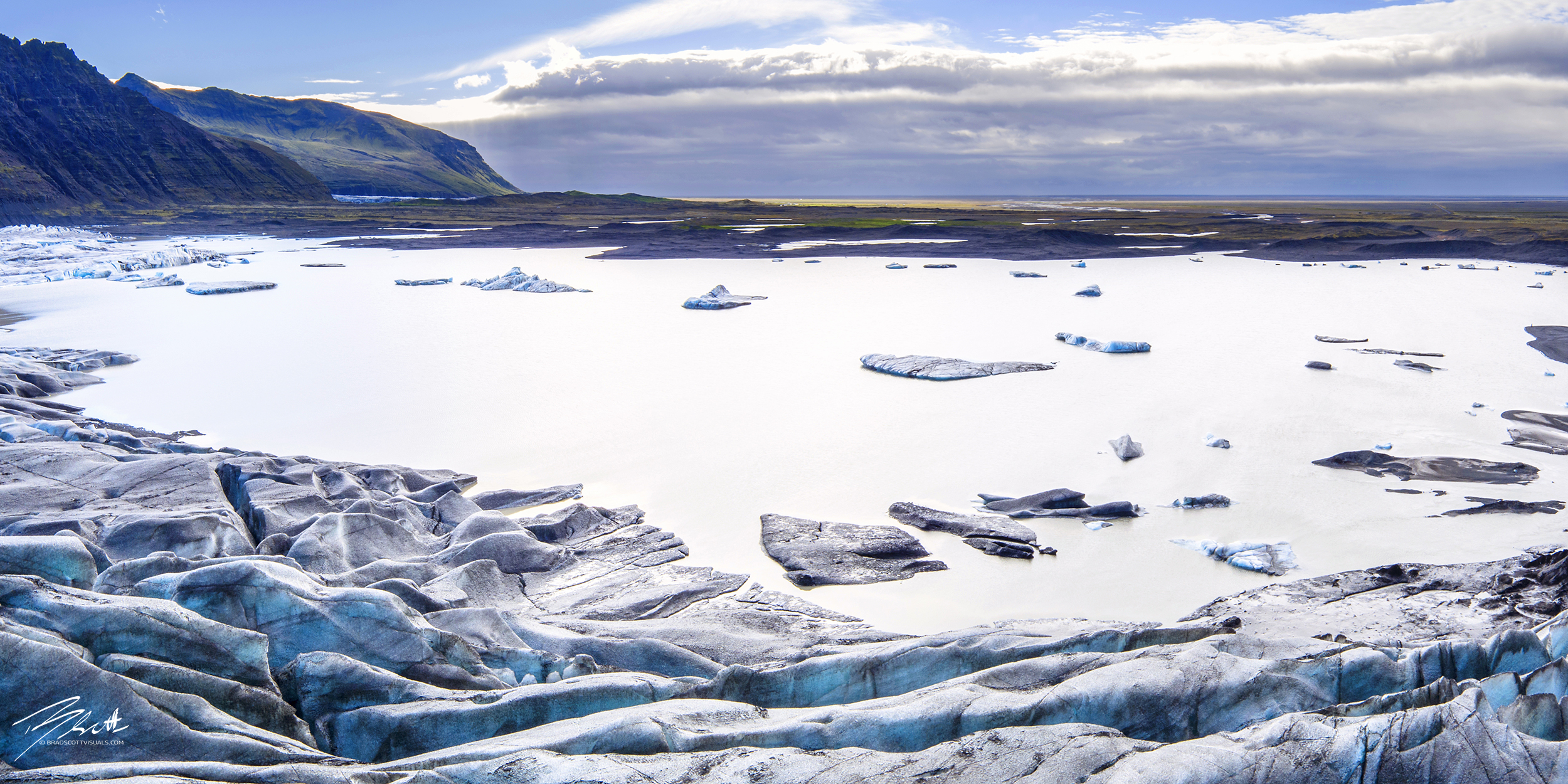 Skaftafell Lagoon Aerial
