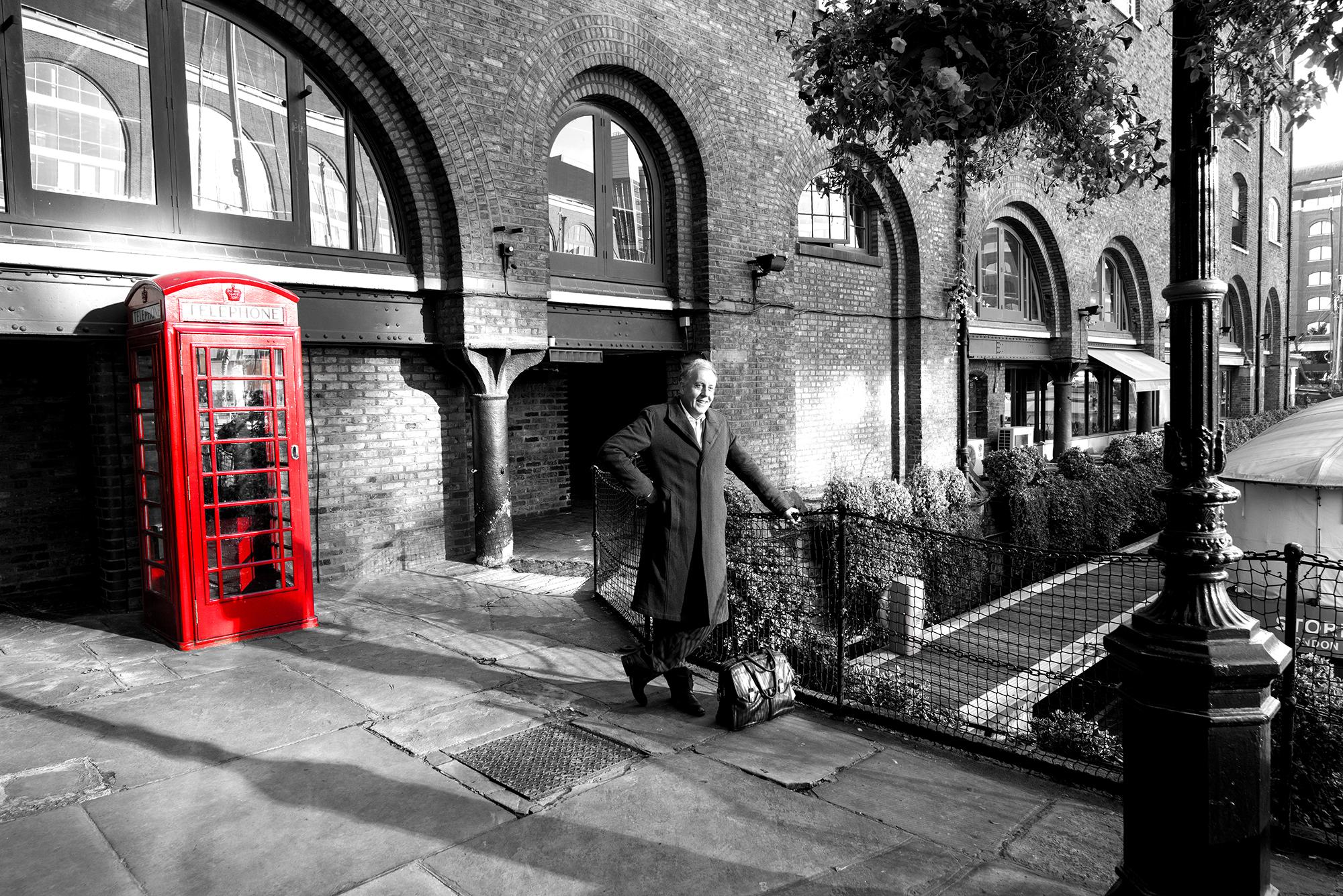 englishman and the phone box