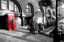 englishman and the phone box
