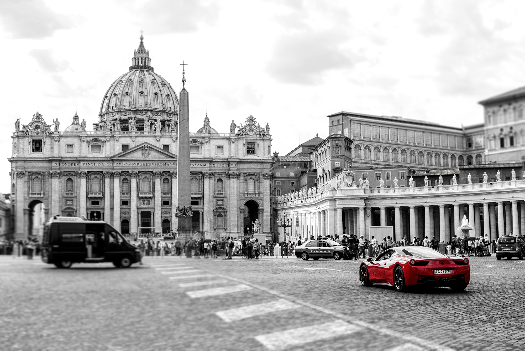 Ferrari at the vatican color corrected