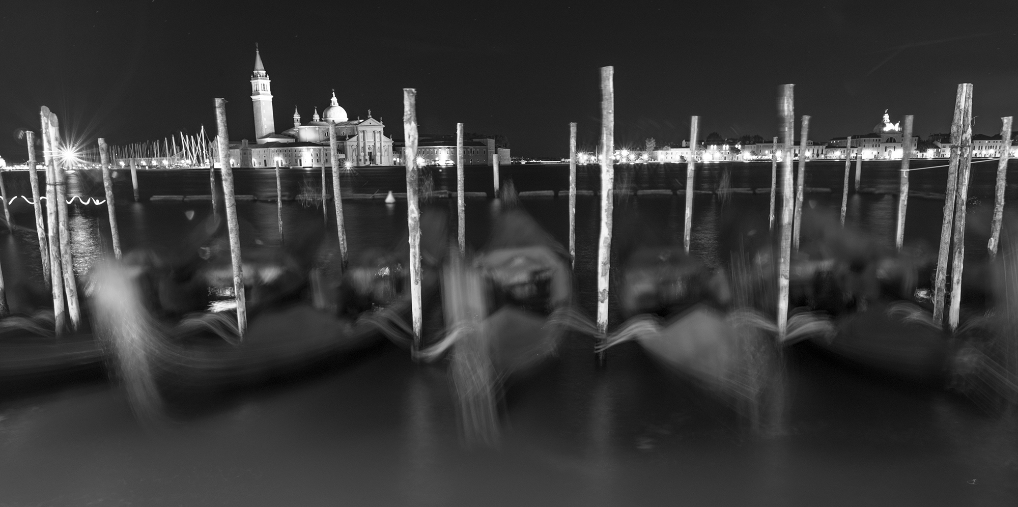 blurred gondolas