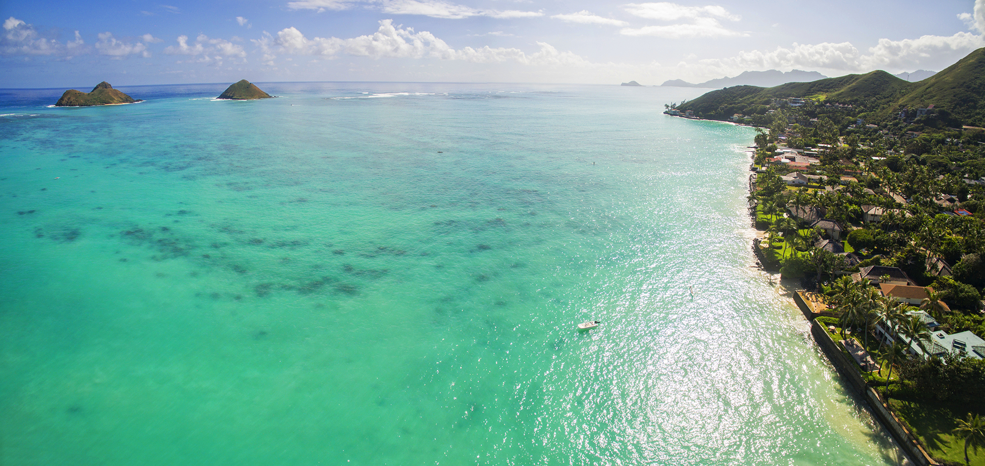 twin islands and lanikai panorama