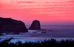 sunset 8 second exposure