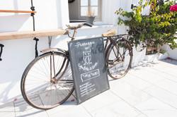 Santorini take me a photo bike