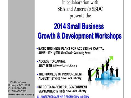 2014 Small Business Growth & Development Workshop