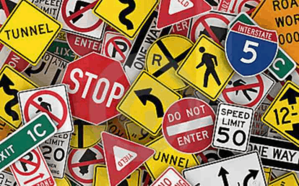 Mosaic can do any type of traffic signs