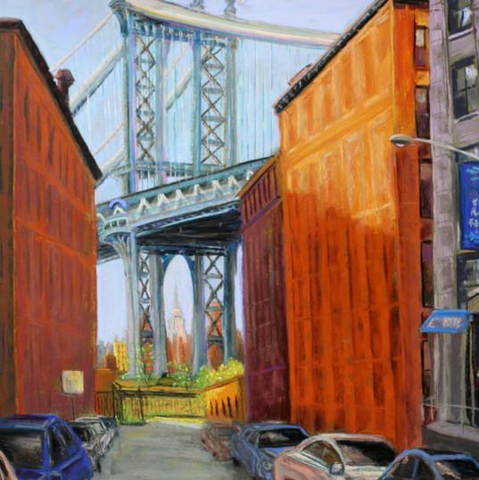 Manhattan Bridge Over Empire State