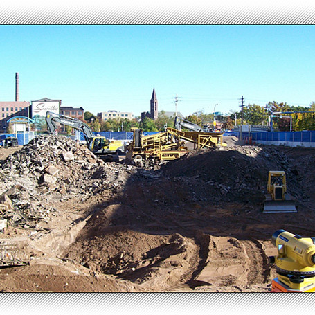 Remedial excavation for disposal of contaminated materials.