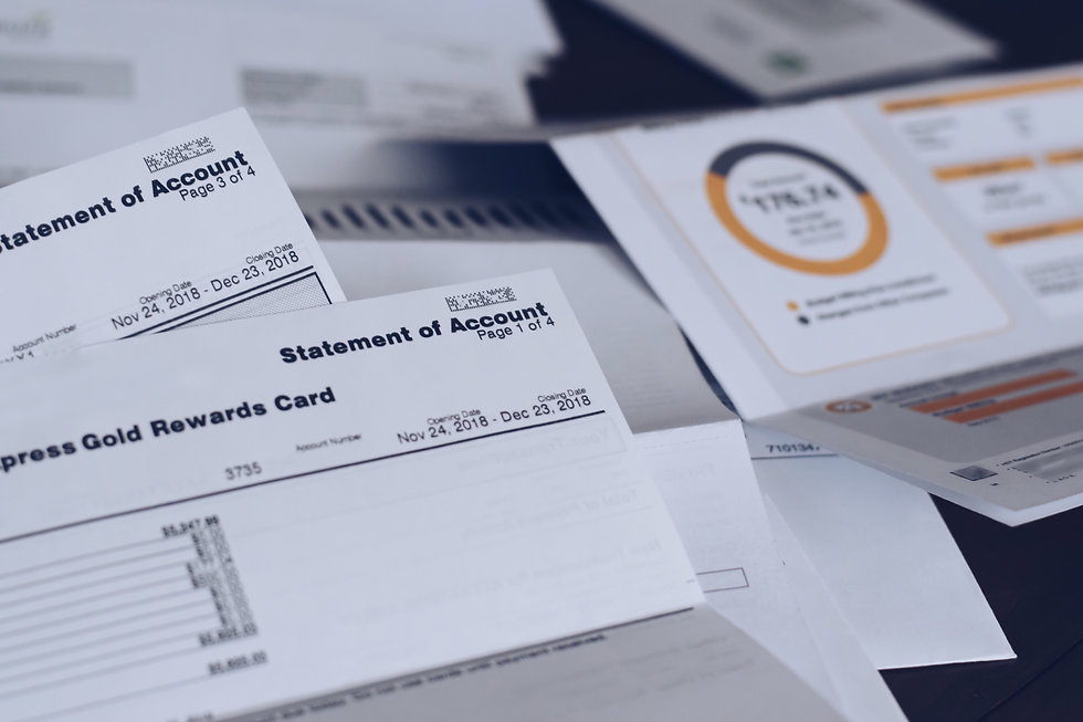 scattered-utility-bills-and-credit-card-