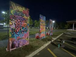 Graffitis pour la sensibilisation