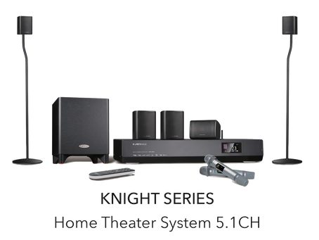 小小的音響帶給我精彩的影音世界 Partyhouse Knight 5.1家庭影院卡拉OK揚聲器系統
