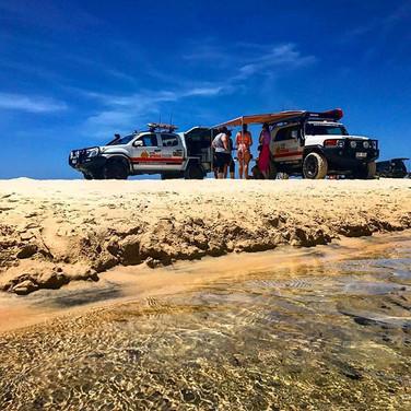 4x4 at Eli Creek Fraser Island