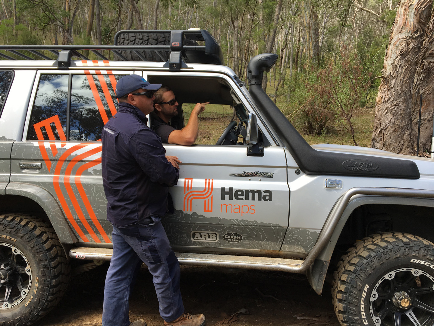 Offroad driving with Hema Maps