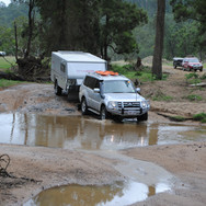 River crossing on camper trailer course