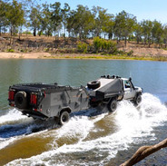 Johnnos crossing with 4x4 and trailer