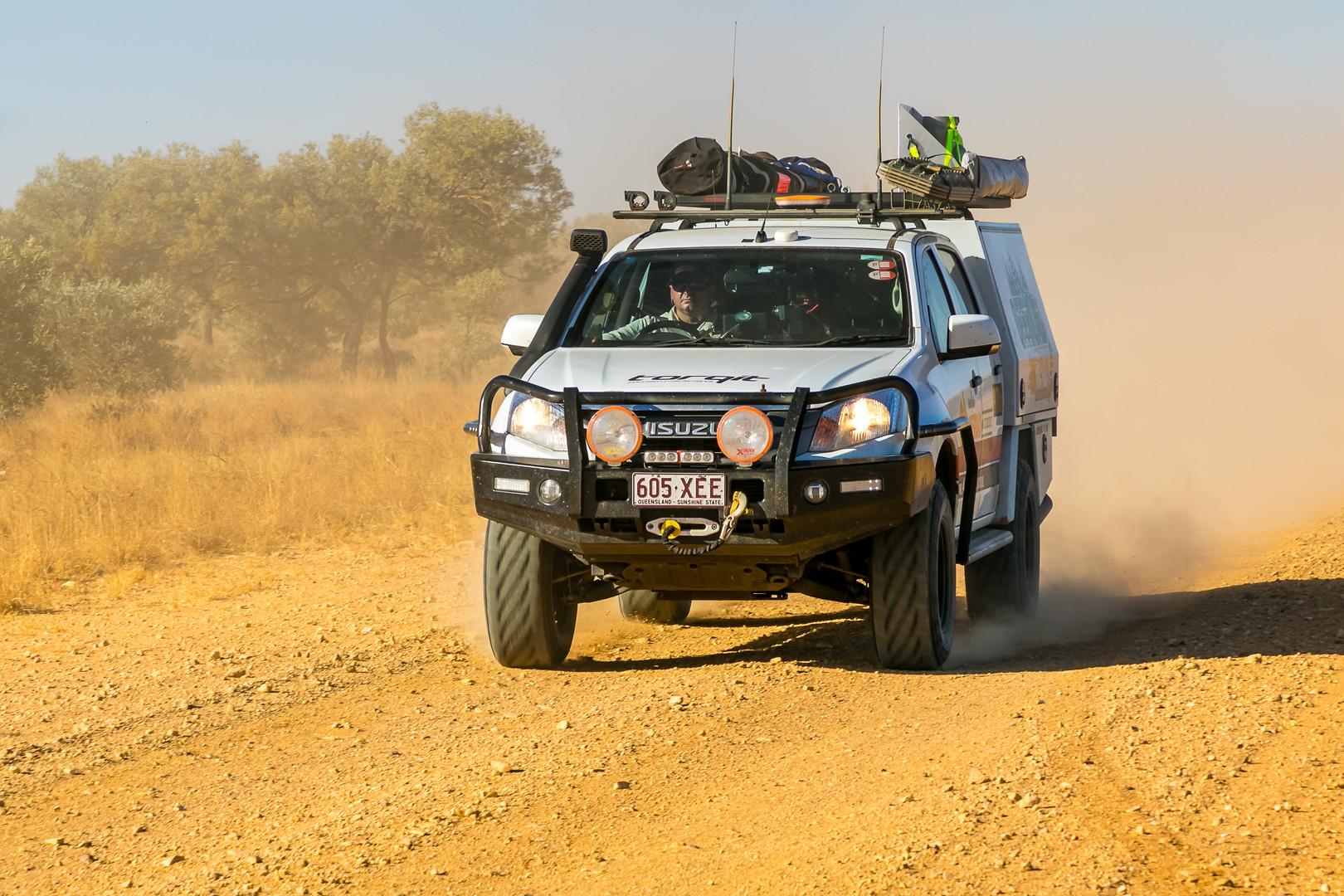 Driving in outback Australia
