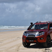 Sand driving on the I-Venture Club Tour and Training for Isuzu