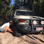 Deflating tyres for sand driving