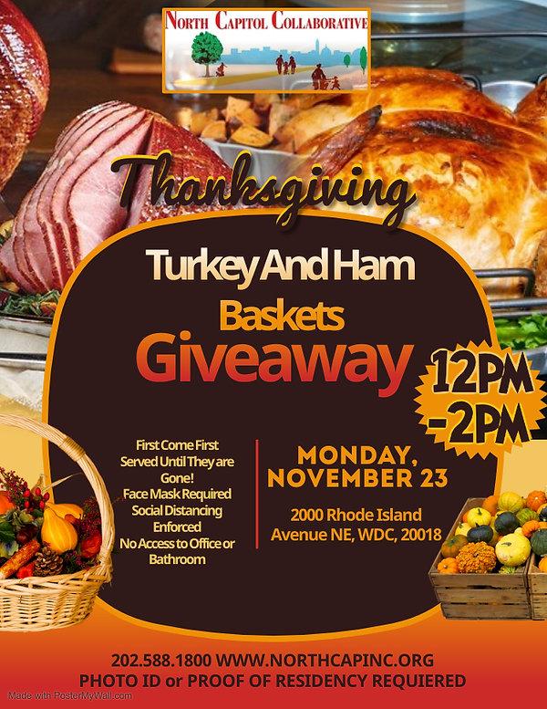 NCCI Thanksgiving Turkey Giveaway Flyer