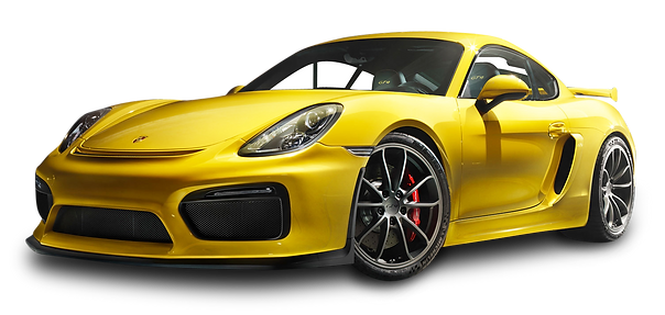 PNGPIX-COM-Porsche-Cayman-GT4-Yellow-Car