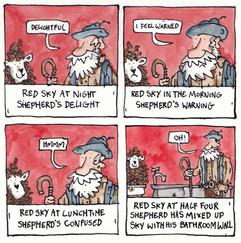 A cartoon about shepherds