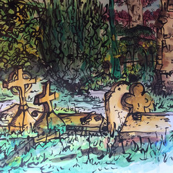 Graveyard painting