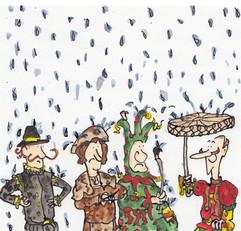 A cartoon about rain