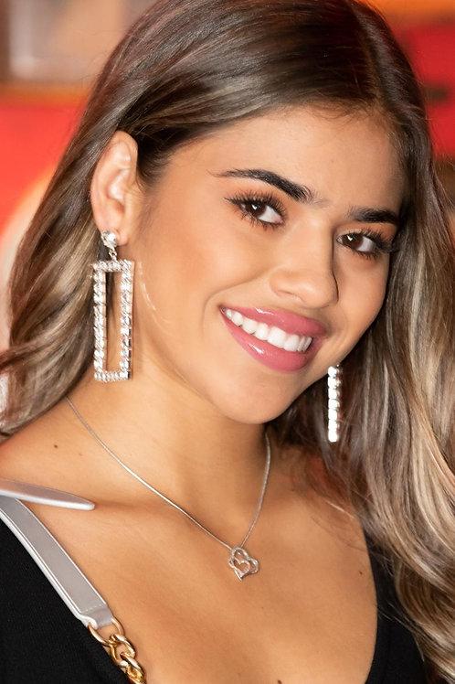Square biz earring