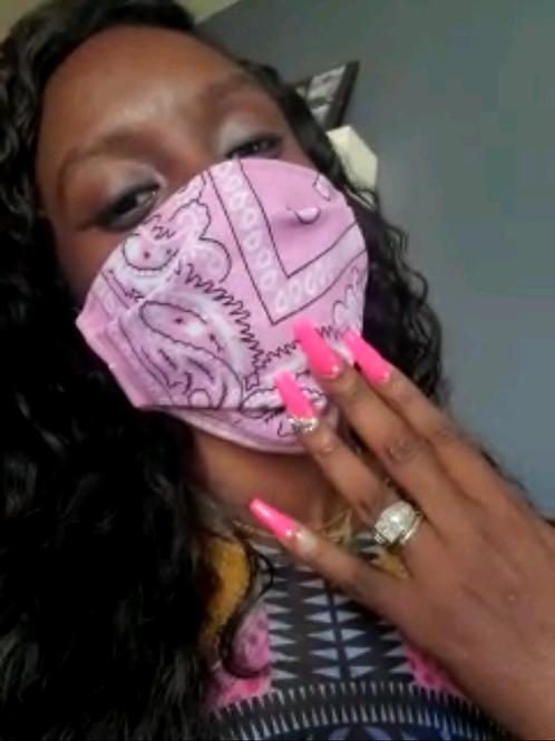 Pink bandana mask