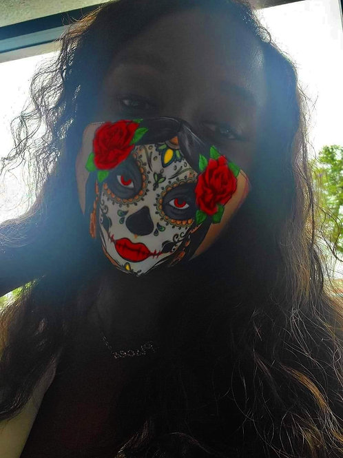 Dia de los muertos diva mask
