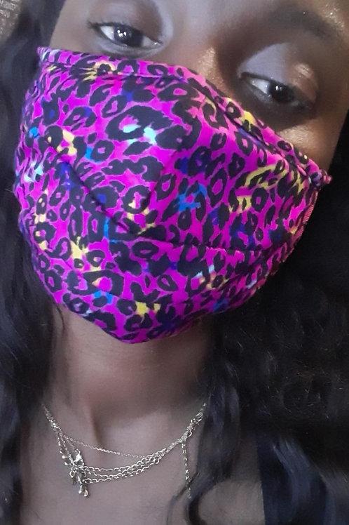 Pink leopard mask