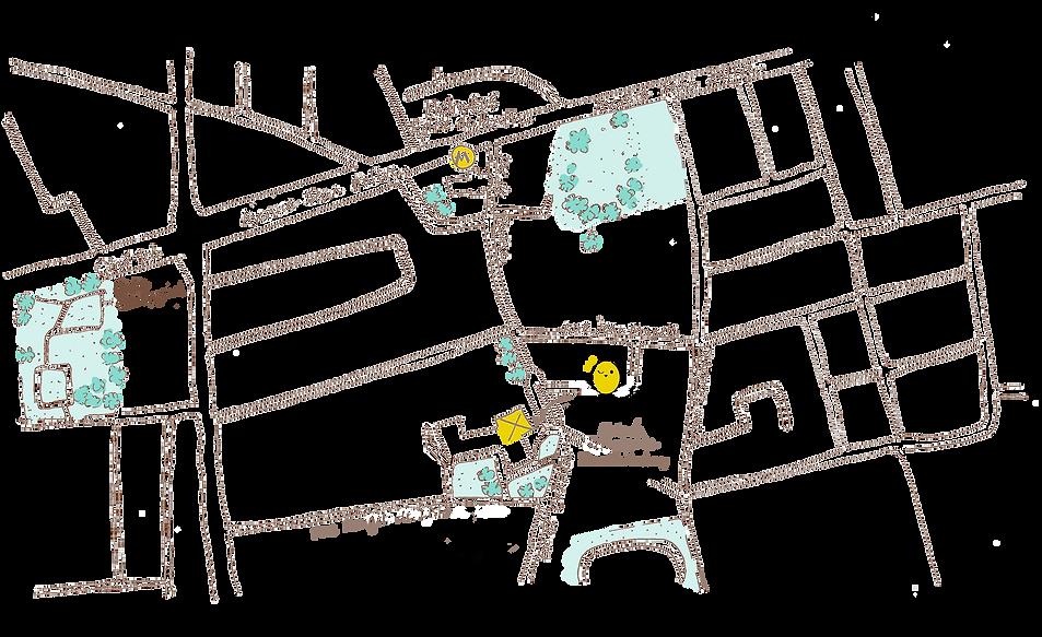 Illustration réalisée pour le plan d'accès à la crèche Mini Montessori