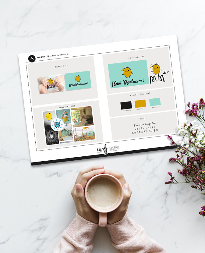 Etude du logo Mini Montessori    2019