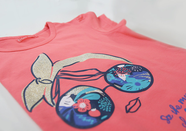 Animer le textile avec des sérigraphies.