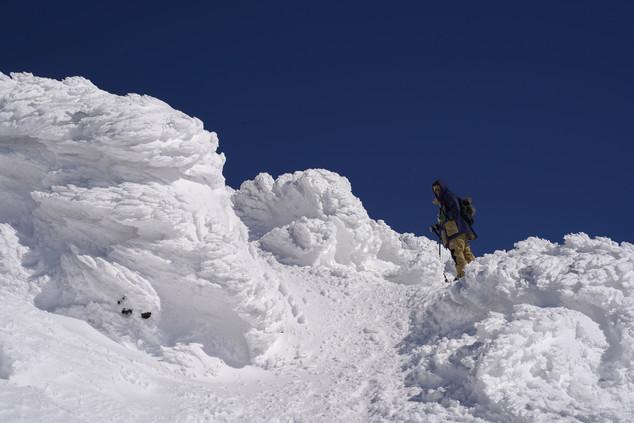 ski touring in Asahidake