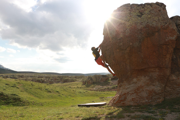 Bouldering in the Taurus Mountains