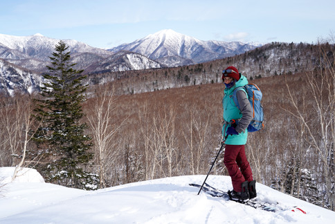 ski touring in Kurodake (Japan)